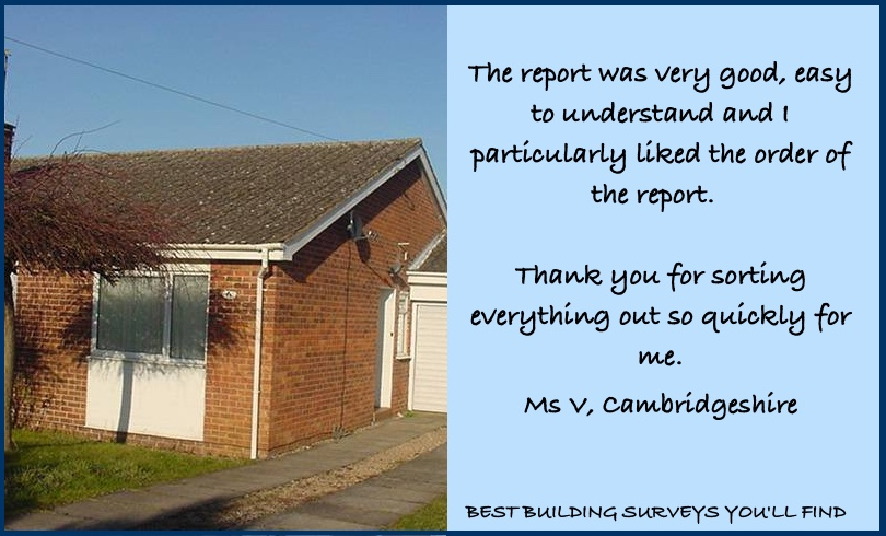 Cambridgeshire Building Survey Testimonial