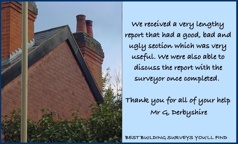 Derbyshire Building Survey Testimonial