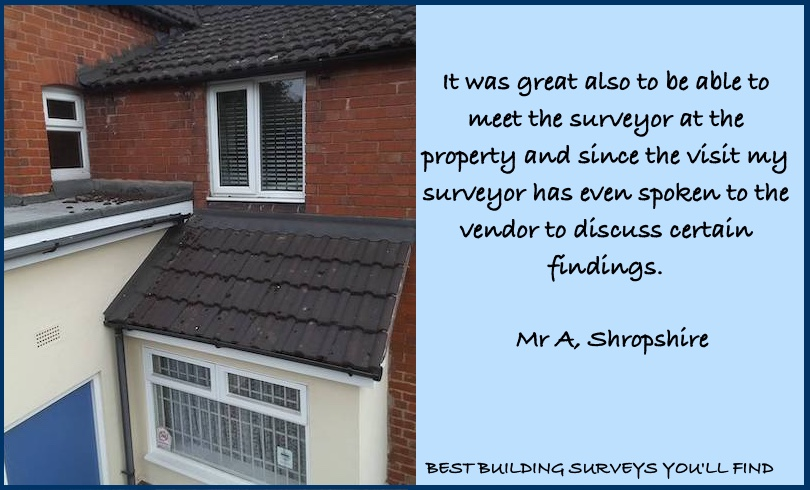 Shropshire Building Surveyor Testimonial
