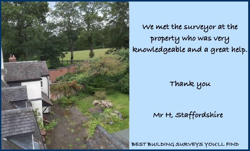 Staffordshire Building Survey Testimonial
