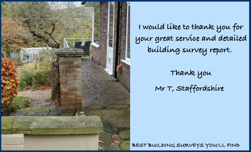 Staffordshire Building Surveyor Testimonial