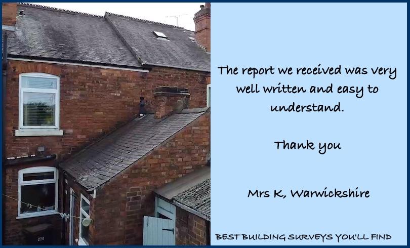 Warwickshire Building Surveyor Testimonial