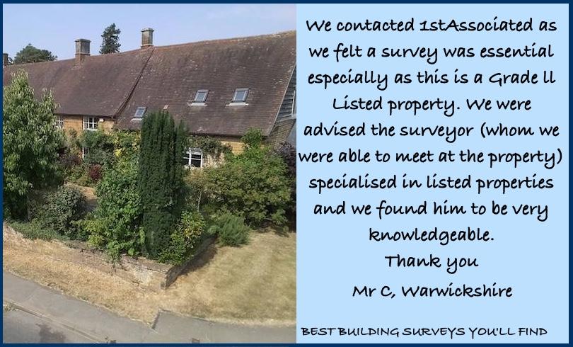 Warwickshire Building Survey Testimonial