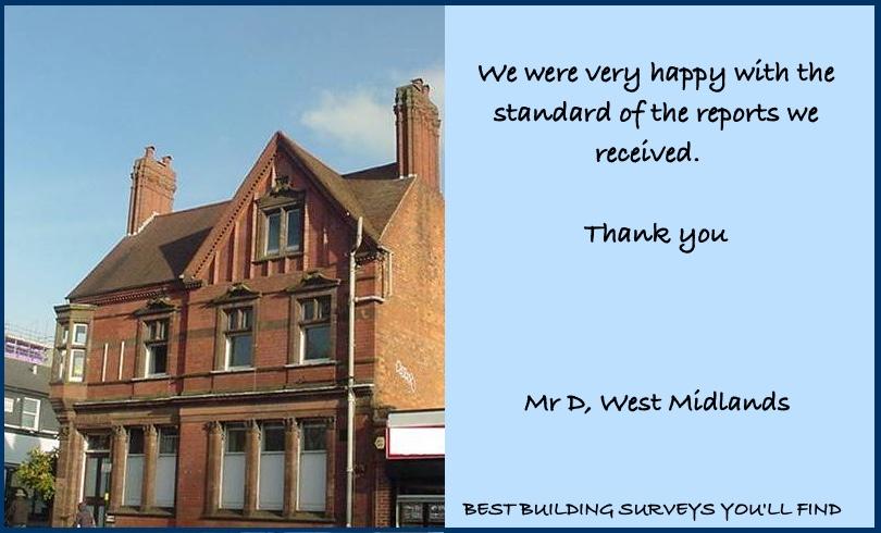 West Midlands Building Surveyor Testimonial