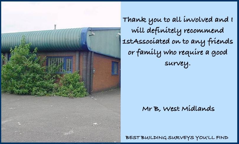 West Midlands Building Survey Testimonial