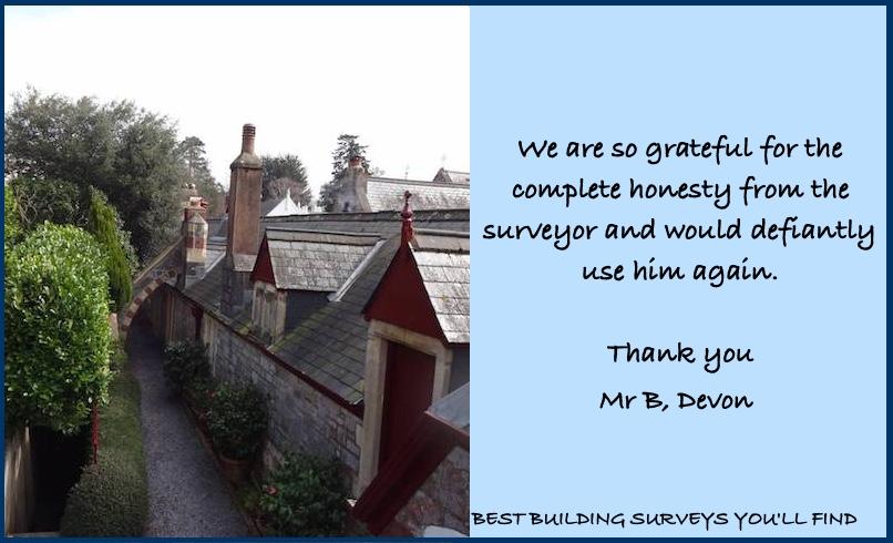Devon Surveyor Testimonial