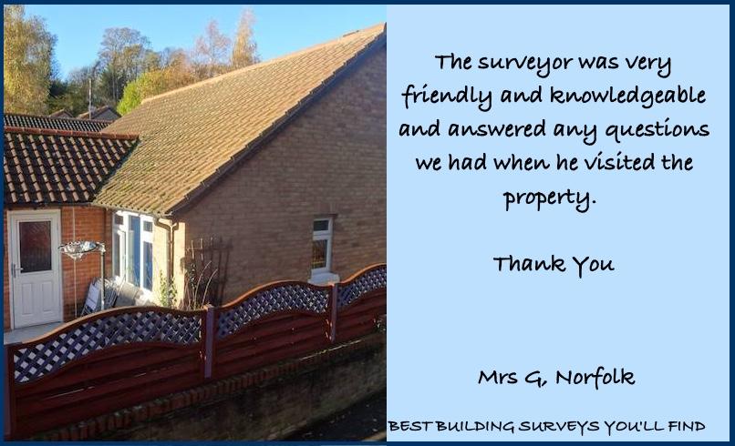 Norfolk Building Survey Testimonial