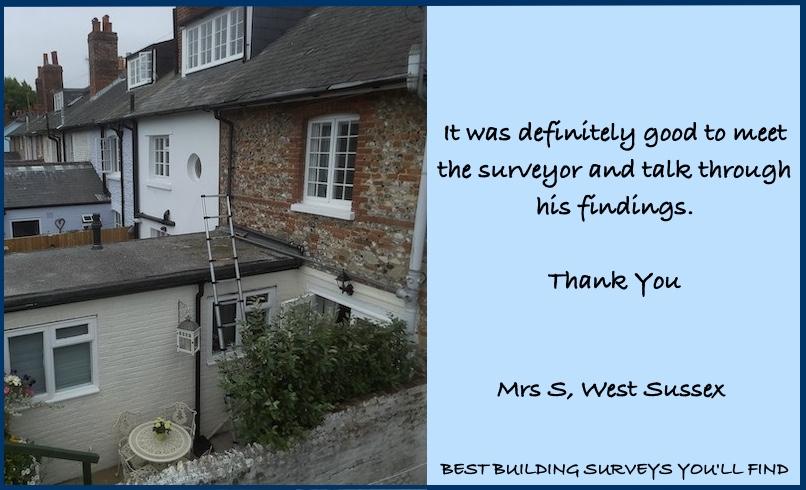 West Sussex Building Survey Testimonial