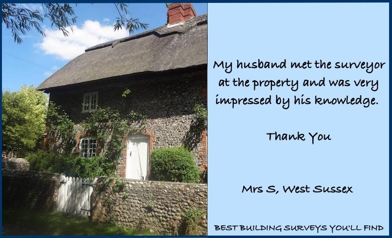 West Sussex Building Surveyor Testimonial