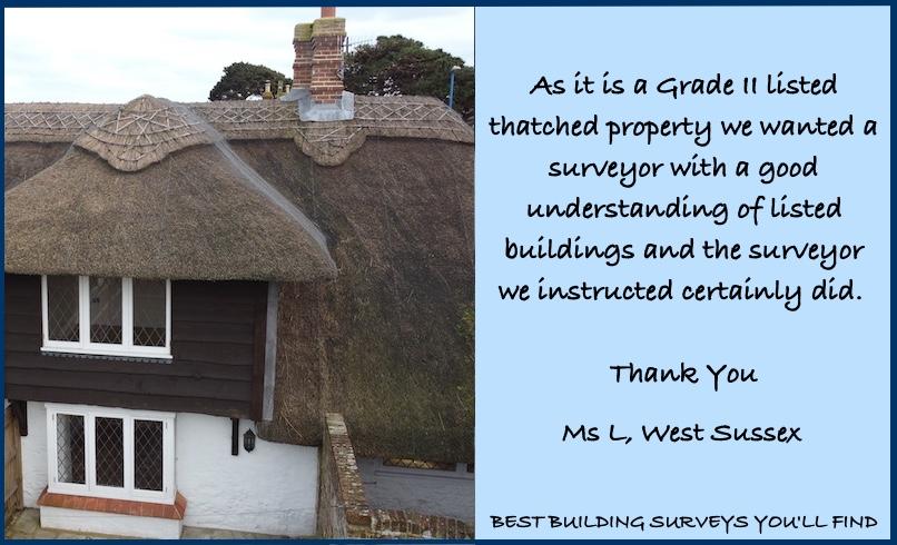 West Sussex Surveyor Testimonial