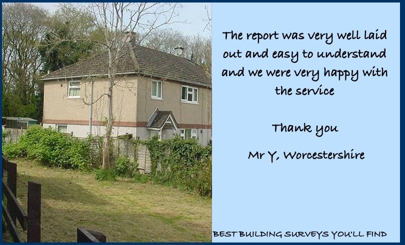 Worcestershire Building Survey Testimonial