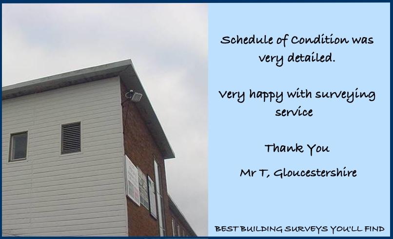 Gloucestershire Building Surveyor Testimonial